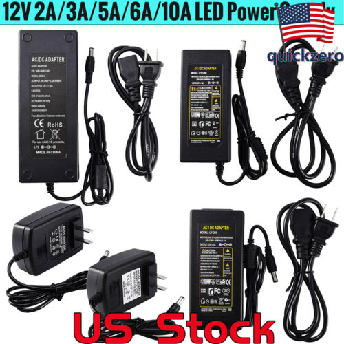12V6A Power Supply LED Strip Adapter Converter Charger Light