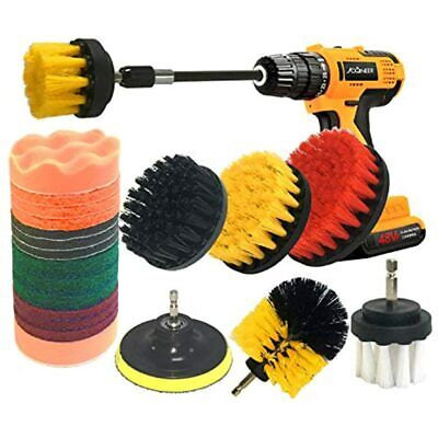 22 Pieces Drill Brush Attachment Cleaning Set With Extend Long For Bathroom Car