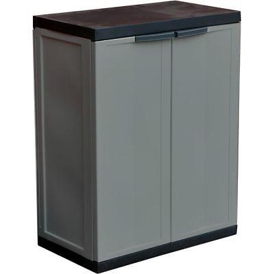 Kingfisher Plastic Garden Storage Cabinet Shed Garage Indoor Outdoor 85cm x 65cm