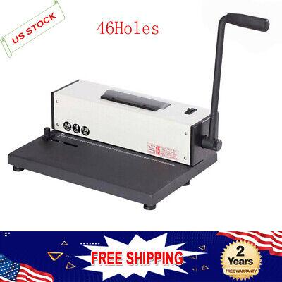46hole 110v Desk Calendar Notebook Maker Plastic Spiral Coil Binding Machine Top