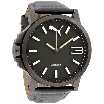 Puma Ultrasize XL Rural Dial Leather Strap Men's Watch PU103461004