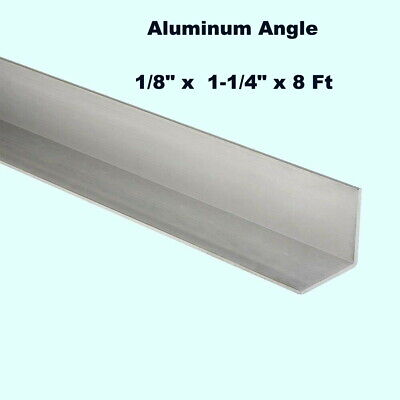 Aluminum Angle 18 X 1-14 X 8 Ft Length Unpolished Alloy 6061 90 Stock