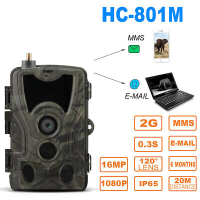 HC-801M 2G GSM Hunting Trail Camera 16MP 1080P MMS SMTP SMS LCD IR Night Vision