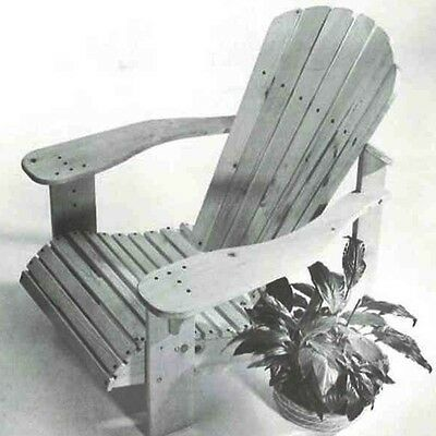 Woodworker's Journal Adirondack Lawn Chair Plan - Reprint - Media   Woodworki...