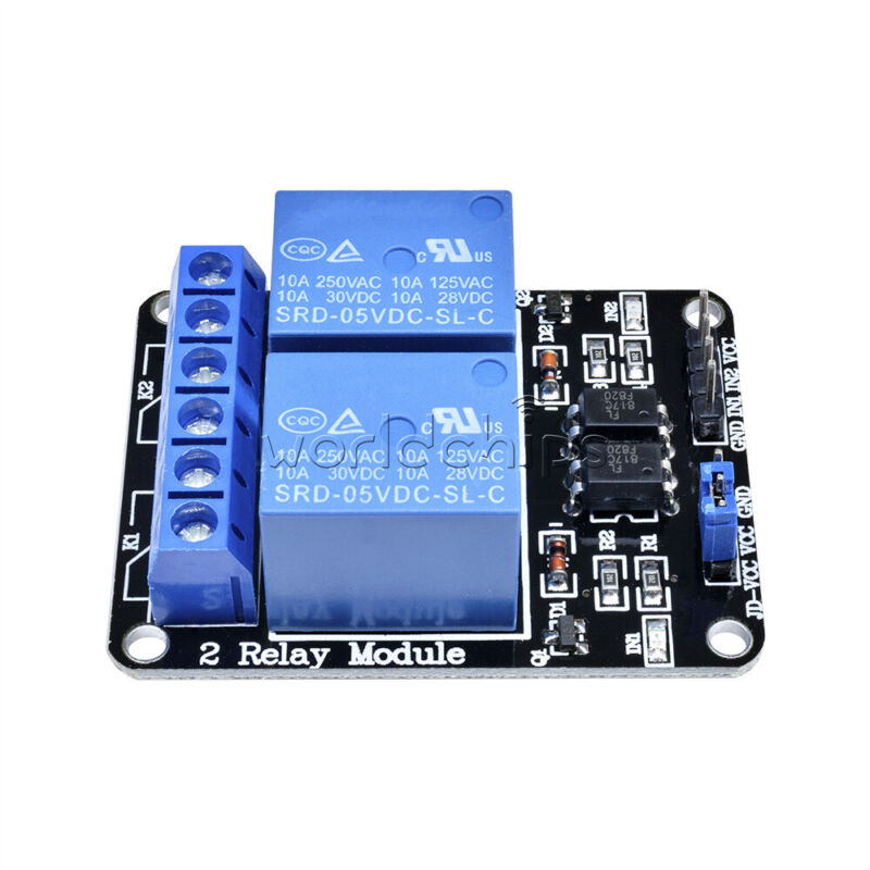 2PCS Two Channel Relay Module 5V 2 CH W/ Optocoupler for PIC AVR DSP ARM Arduino