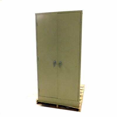 Steel Storage Cabinet 3-shelf 2-door Garage Metal 78h X 36w X 24d Beige Wkey