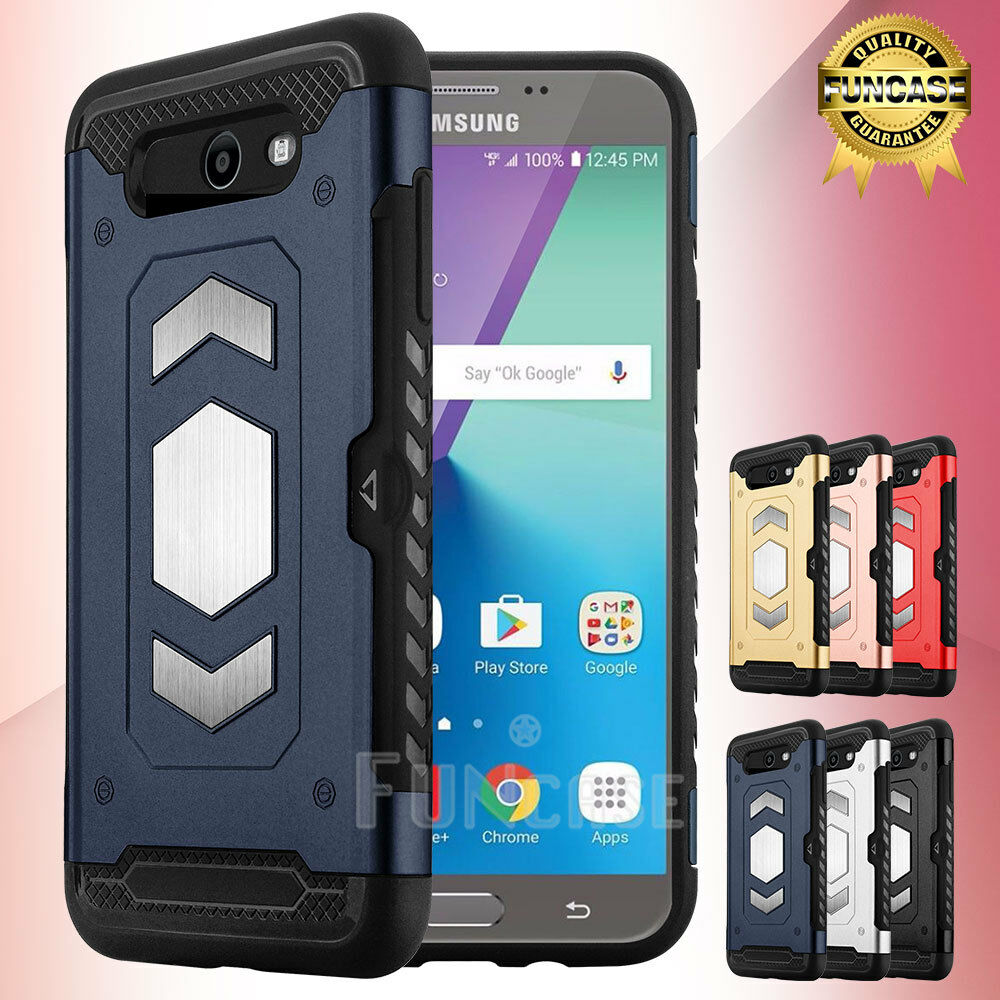For Samsung Galaxy J7 Sky Pro /J7V /2017/ Prime/Perx Shockproof Mount Case Cover