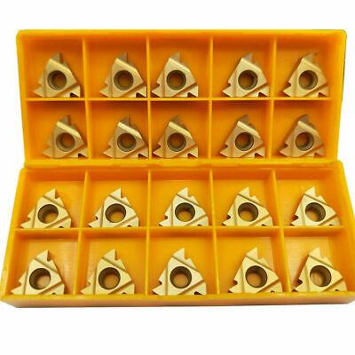 10pc 38 Mmt16er Ag60 Us735 Cnc Carbide Threading Insert For Turning Tool 11ir