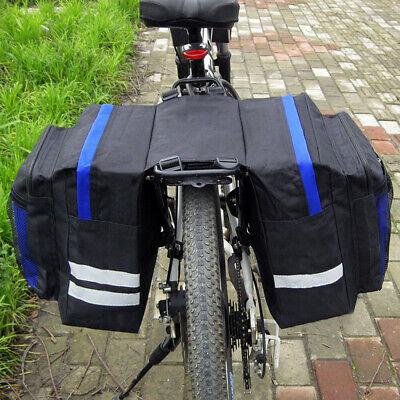 Waterproof Double Panniers Bag Bike Bicycle Cycling Rear Seat Trunk Rack Pack US
