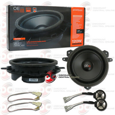 """POWERBASS OE65C-TY 6.5"""" 2-WAY COMPONENT SPEAKERS FOR SELECT TOYOTA LEXUS SCION"""
