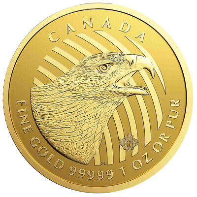 1 oz Golden Eagle 2018 Kanada 200 Dollar Goldmünze 999,99 Call of the Wild Adler