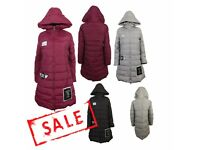 FREE DELIVERY AMAVISSEUK-Women Clothes Winter Fashion Puffy Puffer Long Light Parka Jacket with Hood