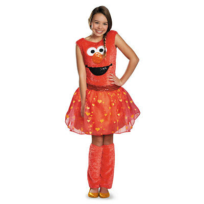 Elmo Costume Girl (Girls Elmo Tween Deluxe Halloween)