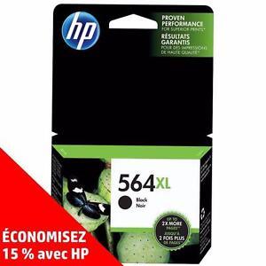 Cartouches d'encre noire et de couleur d'origine HP 564 – Achetez directement de HP et économisez! (15%)