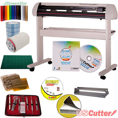 "34"" Vinyl Cutter BUNDLE Sign Cutting Plotter w/SCALPro (Mac Recommended)"