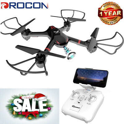 DROCON X708W LED Drone WIFI FPV HD Camera Medium Upgraded Training Quadcopter
