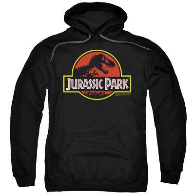 Adult Dinosaur Hoodie (Jurassic Park Dinosaur Thriller Movie Classic Logo Adult Pull-Over)