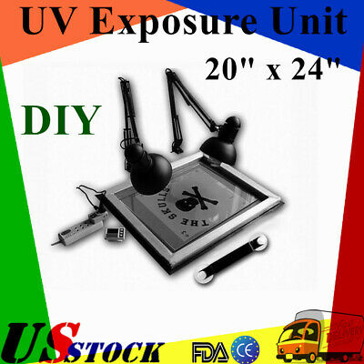 Usa Uv Exposure Unit 20 X 24 Screen Printing Plate Making Silk Screening Diy