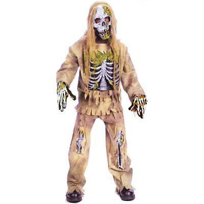 Fun World Skeleton Zombie Kids Child Halloween Costume   5919 - Fun Childrens Halloween Costumes