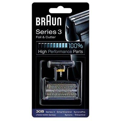 Braun Scherblatt und Klingenblock 30B  -schwarz- zu Braun Rasierer Syncro 7015
