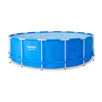 "Bestway Steel Pro 15-Foot x 48"" Round Frame Above Ground Swimming Pool (No Pump)"