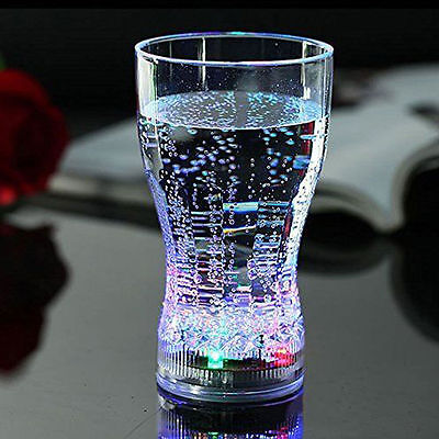 3 Coke Flashing Drinking Cup LED Light Up Shot Bar Club Party Beer Drink - Light Up Drinking Glasses