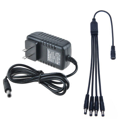 12VDC 2A Power Supply &4Way Split for CCTV Security Camera Q-See Night Owl Zmodo