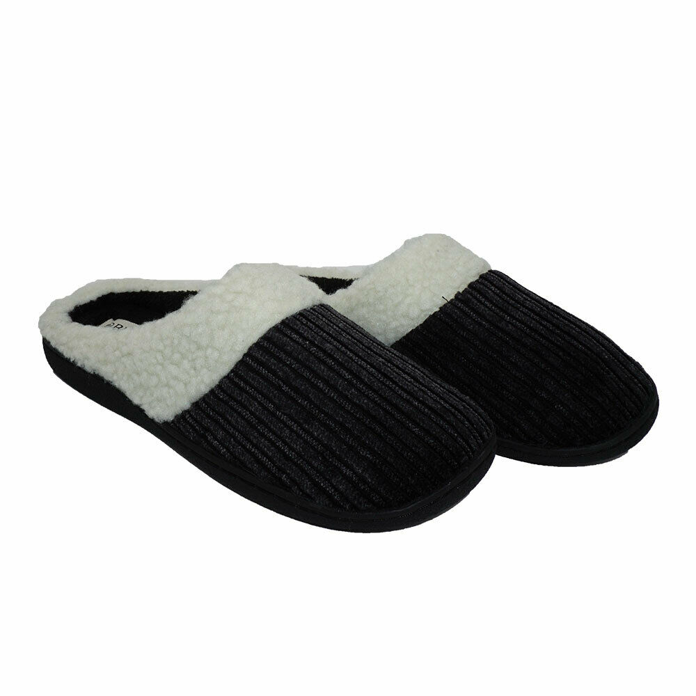Women's Indoor Memory Foam Clog Slippers Slip On Home Slides Cotton Flat Shoes