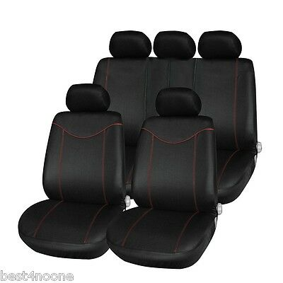(T21638 11pcs Car Low-back Seat Cover Set Water-resistant Auto Cushion Protector)