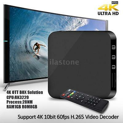 MXQ-4K Smart Android TV Box Quad Core 8GB UHD 4K WiFi HD Fully Loaded