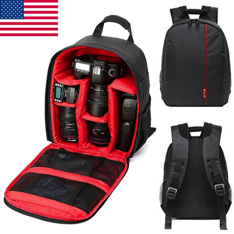 Waterproof DSLR Camera Backpack Shoulder Bag Case For Canon/Nikon/Sony Red BO US