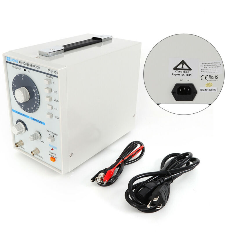 110V Low Frequency audio Signal Generator Signal Source 10Hz-1MHz USA