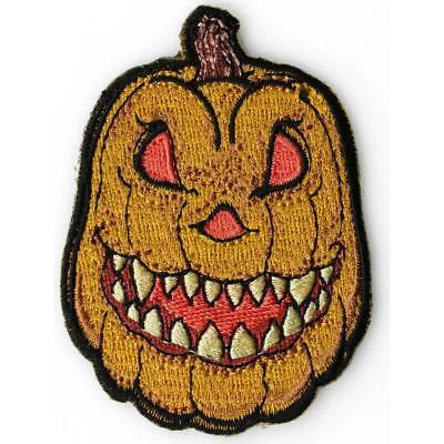 n Pumpkin Sew or Iron on Patch Biker Patch (Halloween Pumpkin Patch)