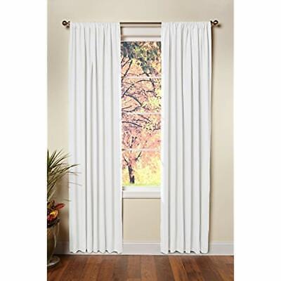 - Cotton Craft - Set 2-100% Duck Reverse Tab Top Curtain Panel 50x84 White Classic
