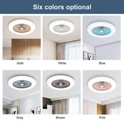 Modern LED 36W Ceiling Fan Light Lighting Adjustable Wind Speed Dimmable IR