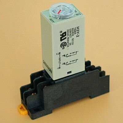 Dc 12v H3y-2 Time Delay Relay Solid State Timer 0-30s W Base Socket