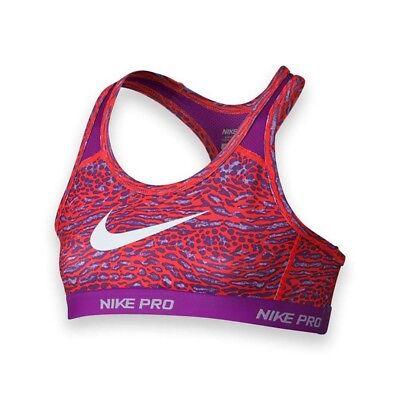 f2405306d0c22 NIKE Girl s Dri-Fit Pro Hypercool Sports Bra Purple Orange 678571-671 Size L