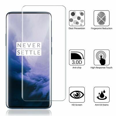 For OnePlus 7 Pro Clear Full Screen Protector Tempered Glass Guard Film Cover Clear Screen Protector Guard Film