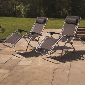 reclining garden chairs ebay