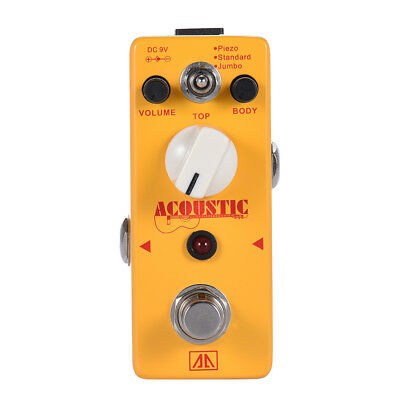 AROMA AAS-5 3 Modes Aluminum Alloy Acoustic Guitar Simulator Effect Pedal Acoustic Simulator Pedal