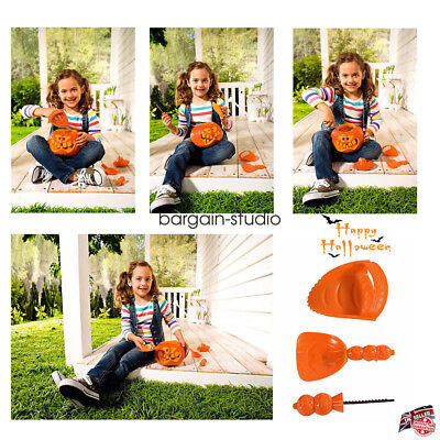 Halloween Pumpkin Carving Kit 3 Tools For Kids Saw Scoop&Poker Decoration Tools](Halloween Saw Decorations)