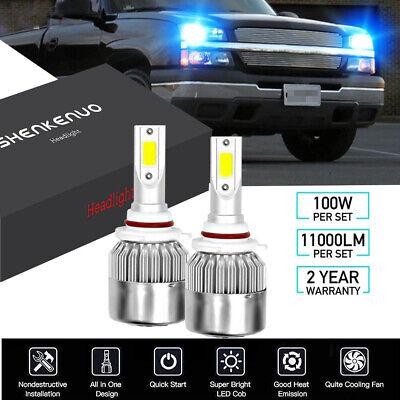 9006 LED Bulbs for Chevy Silverado Malibu Blazer 100W 8000K Headlight Low Beam