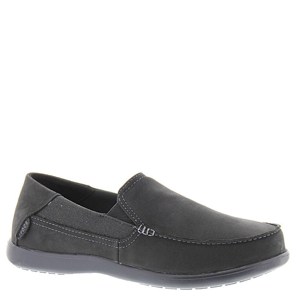 8266ffc6ea930 Men Crocs Santa Cruz 2 Luxe Slip on 202221-060 Black Leather 100 ...