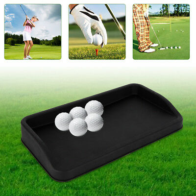 Rubber Golf Ball Tray Large (Can Hold 100 Golf Balls) 57*32cm Black USA STOCK ()