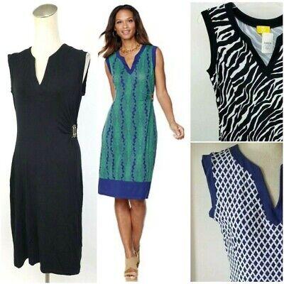 Liz Lange Slvls Side-Gathered Dress w/Buckle Pic Solid or Print & Sz XS-L 464858 ()