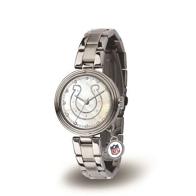 Indianapolis Colts NFL Charm Watch with Stainless Steel -
