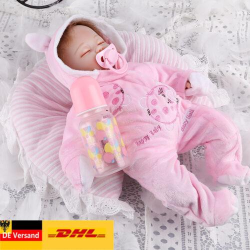 Lebensecht reborn Baby Puppe Weich Silikon-Vinyl Mädchen Spielpuppe Handgefertig
