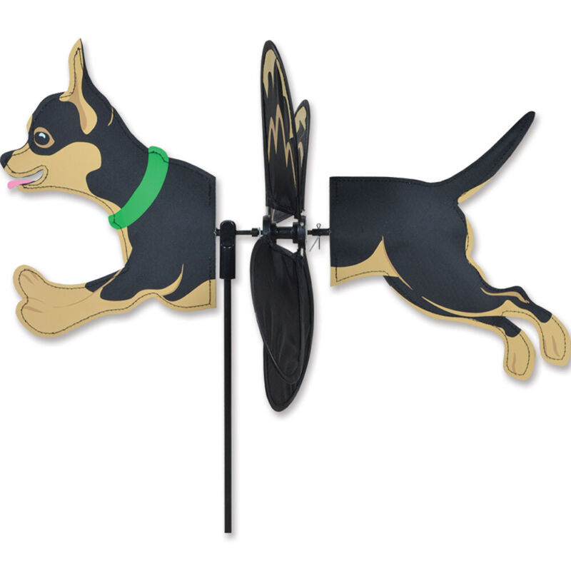 Chihuahua Black Garden Wind Spinners