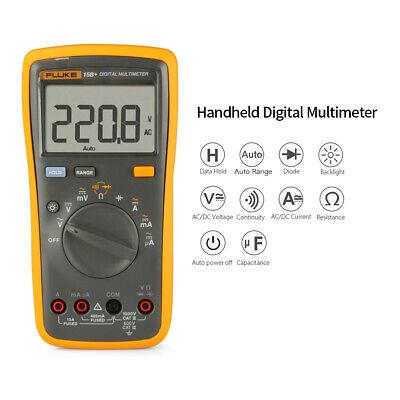 Fluke F15b Lcd Digital Multimeter True Rms Meter Amp Ohm Volt Diode Tester I7b9