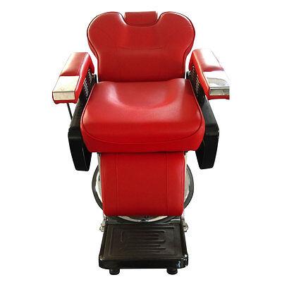 Barber Pub All Purpose Hydraulic Barber Chair Salon Spa Styling Shampoo red